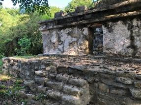 A Mayan temple in Akumal pueblo.